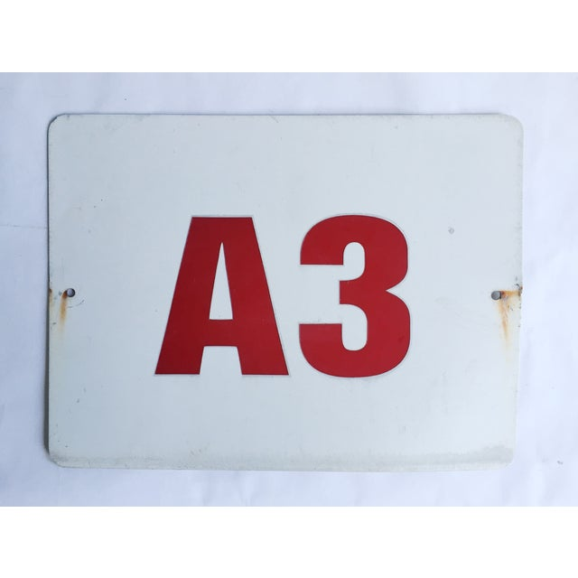 Image of Vintage Theater Aisle Sign A3