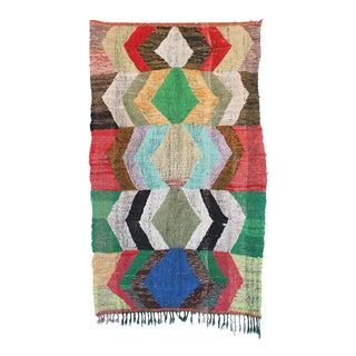 Moroccan Kilim Boucherouite Rug - 4′8″ × 8′2″