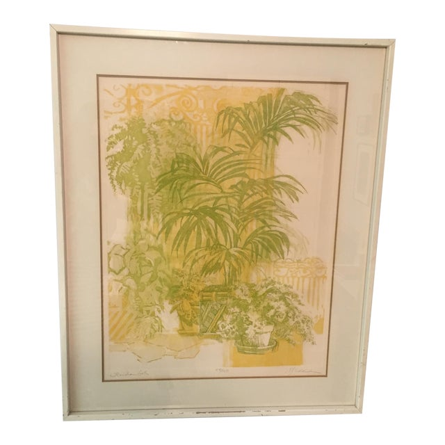 """Floridian Gates"" Framed Intaglio Etching - Image 1 of 10"