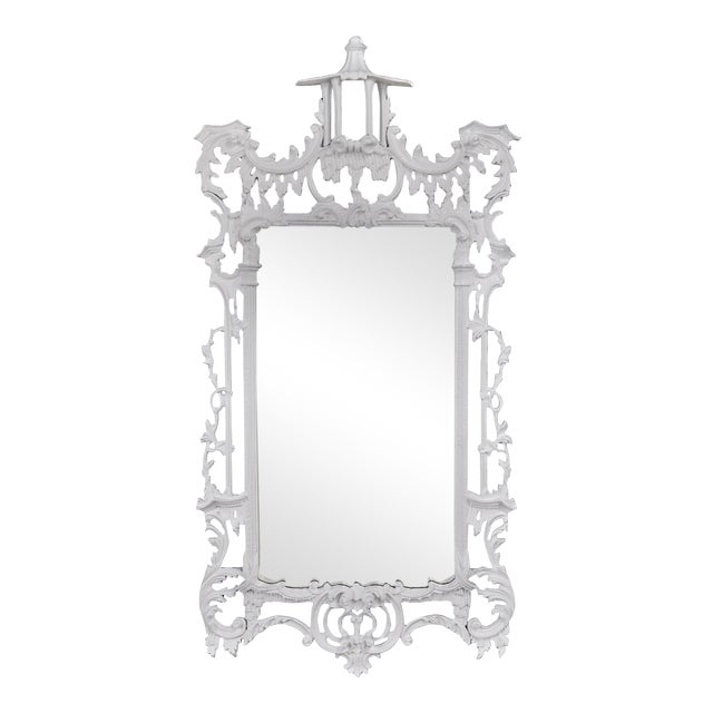 White Chippendale-Style Mirror - Image 1 of 4
