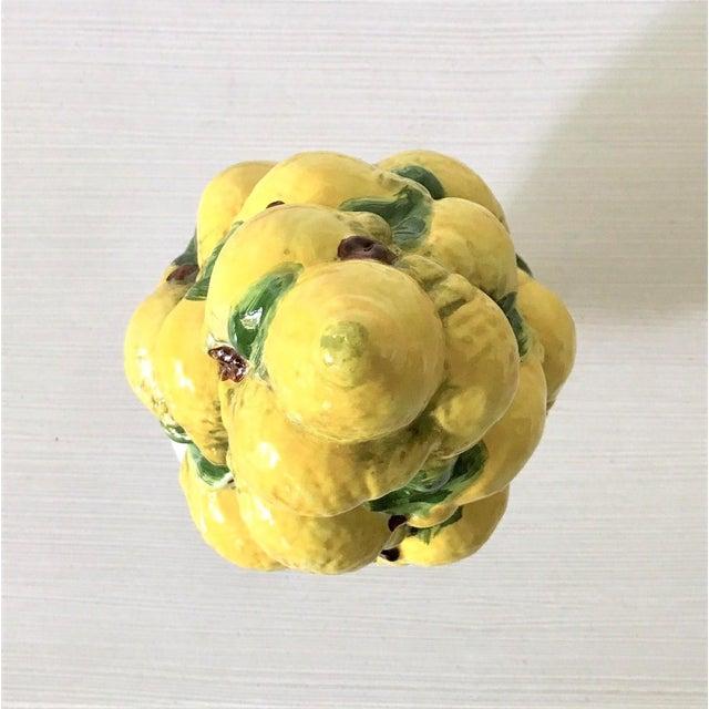 Mid Century Italian Majolica Lemon Topiary - Image 7 of 11