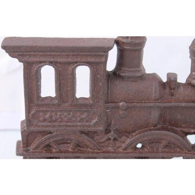 19th Century Original Old Surface Iron Train Door Stop - Image 4 of 8