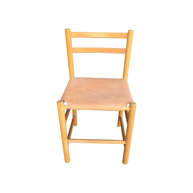 Charlotte Perriand Style Birch & Leather Chair - Image 1 of 9