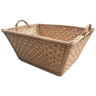 Vintage Large French Market Basket