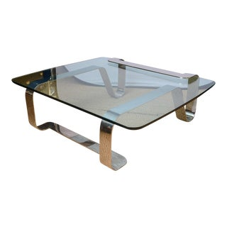 """Rare and Sculptural Gary Gutterman """"Odyssey"""" Coffee Table in Polished Steel"""
