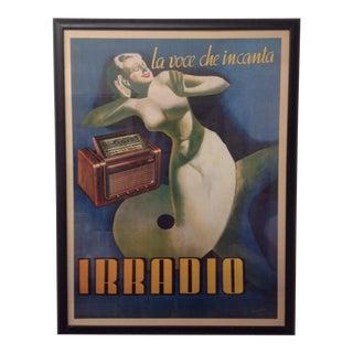 """Gino Boccasile """"La Voce Che Incanta Irradio"""" Print"""