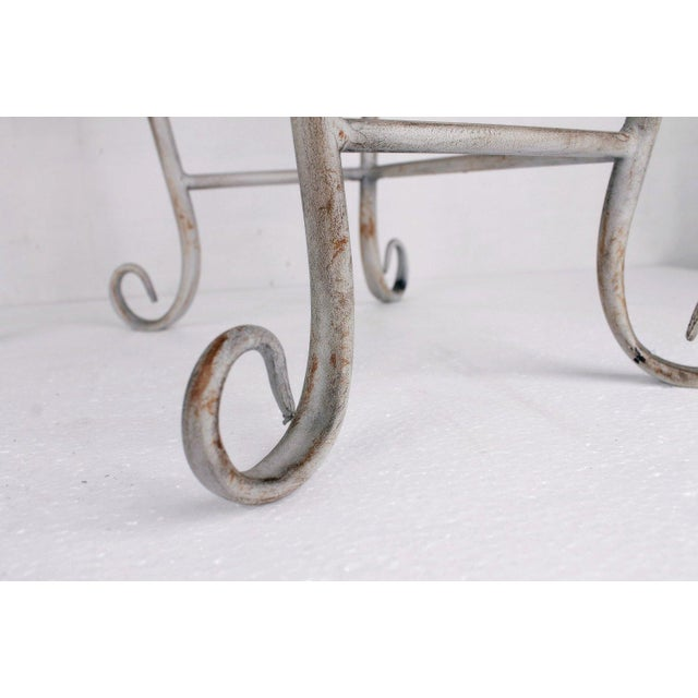 Image of Vintage Wrought Iron Iron Plant Stand - Pair