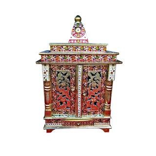 Meenakari Multicolor Home Puja Mandir Hindu Temple Altar