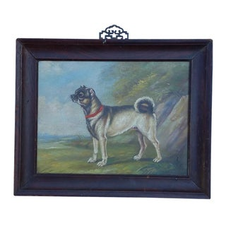 Oil Painting of a Chinese Pug Dog