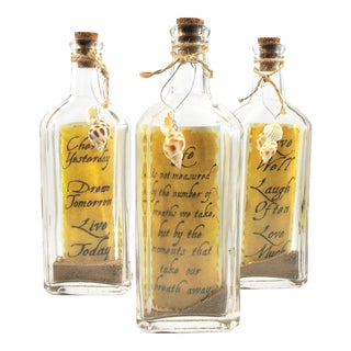 """Message in a Bottle"" Decorative Bottles - Set of 3"