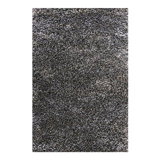 "Dark Gray & Charcoal Shag Rug - 2'8"" x 5'"