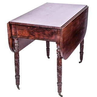 Mahogany Carved Pembroke Table