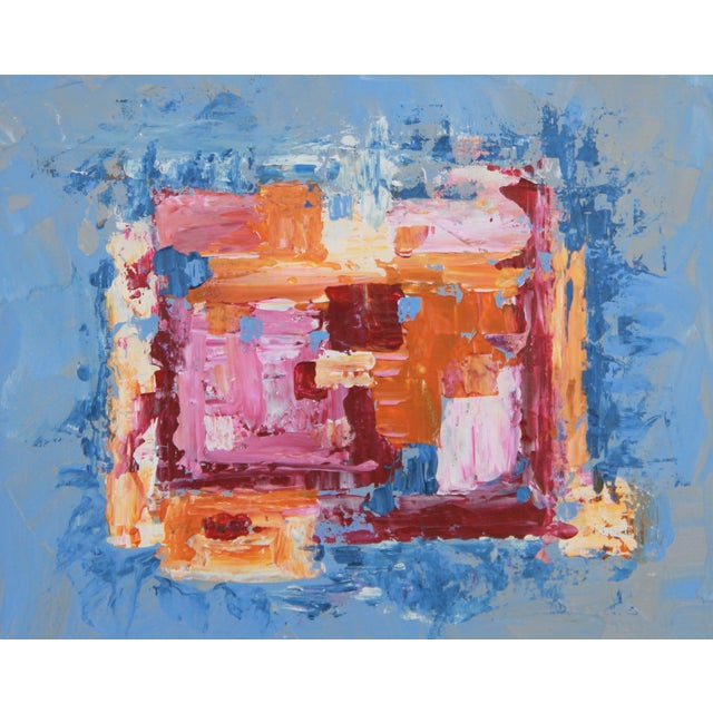 "C. Plowden ""Box Arrangement #3"" Abstract Painting - Image 1 of 2"