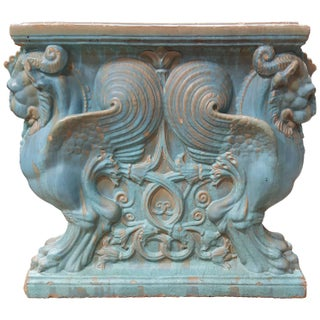 Winged Lion Pedestal by Gladding McBean Pottery