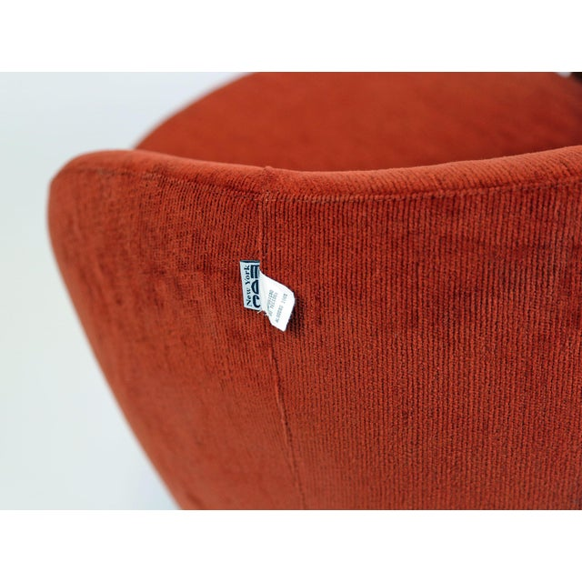 Brazilian Modern Mannes Curved Back Red Club Chair - Image 8 of 11