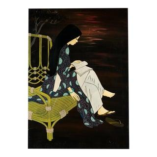 Kimono Girl Lacquer Painting