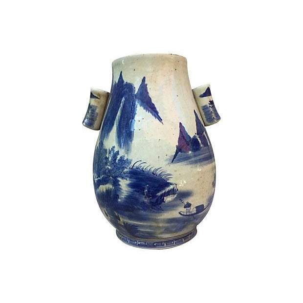 Chinese Blue & White Willow Vase - Image 3 of 6