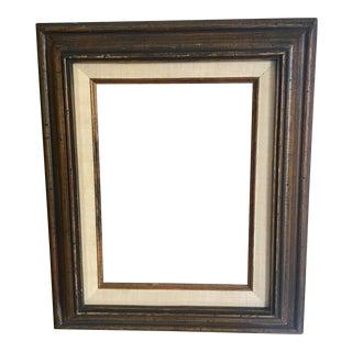 Wood & Linen Vintage Frame