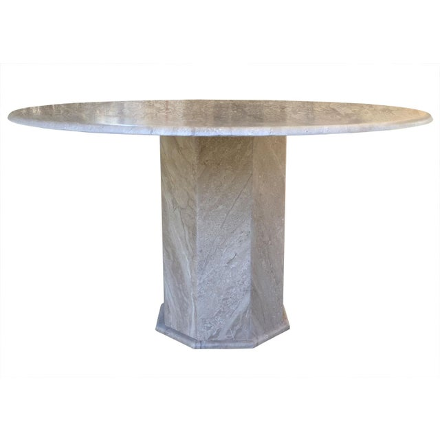 Image of Vintage Ello Travertine Dining Table
