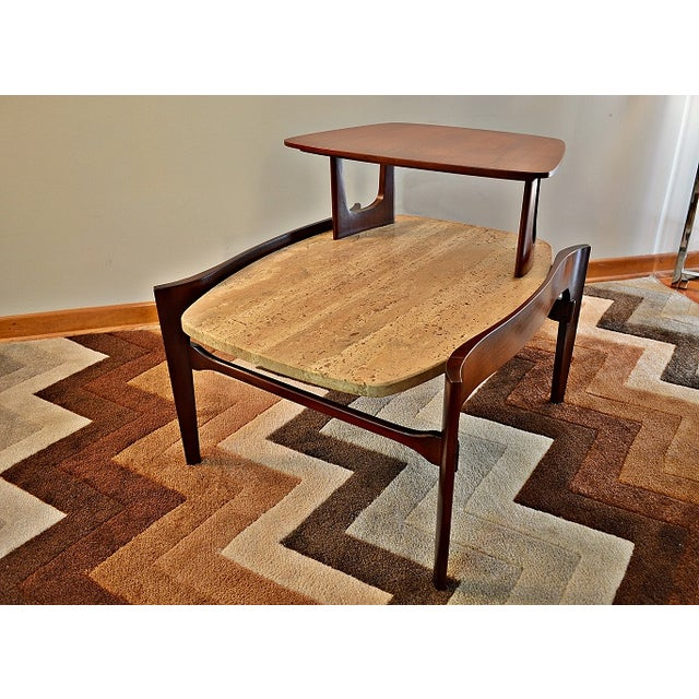 Bertha Schaefer Mid-Century Floating Marble Table - Image 2 of 7