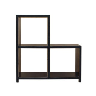 Black Lacquer Triangle Step Shape Display Cabinet Stand