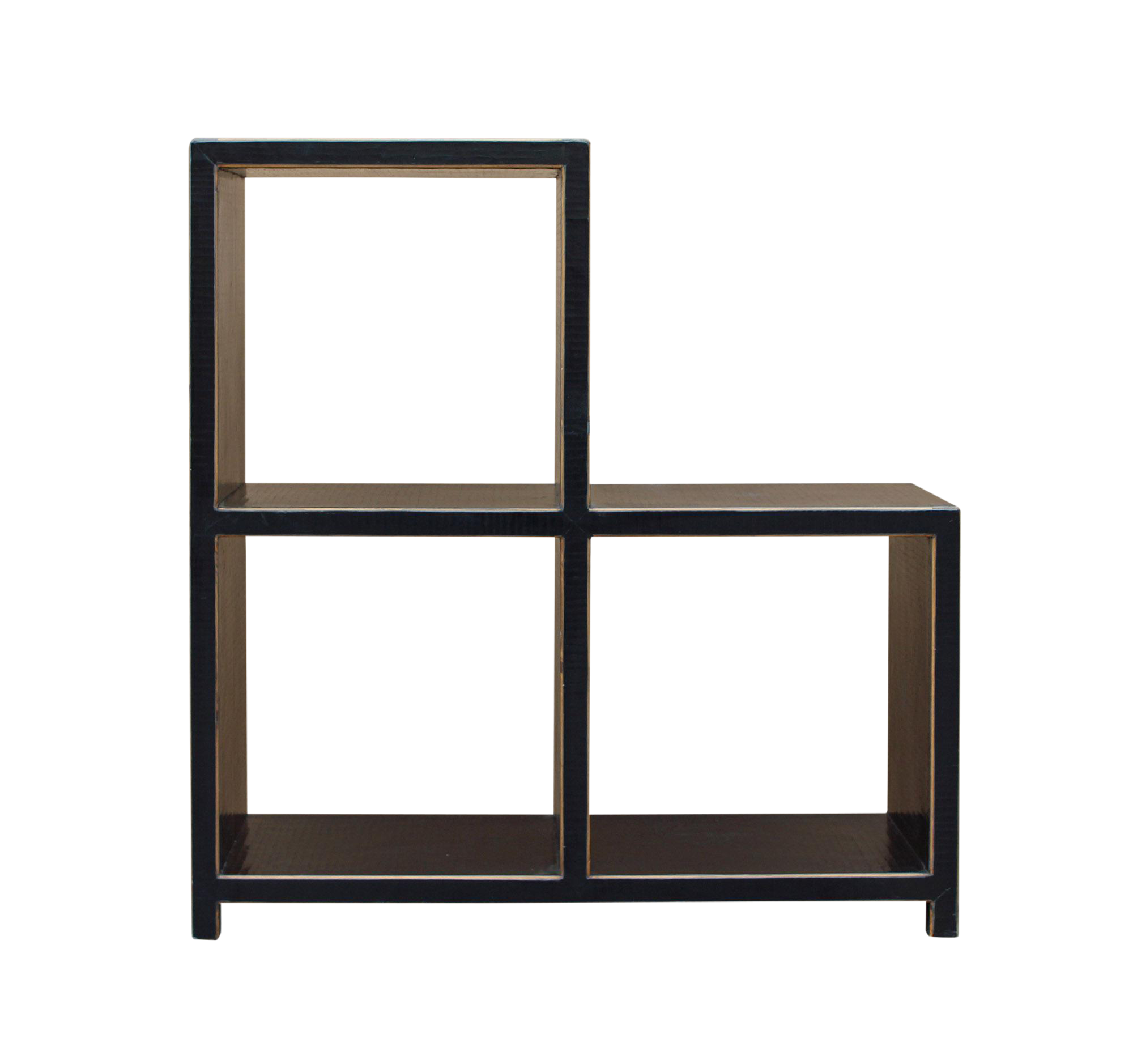 Beautiful Black Lacquer Triangle Step Shape Display Cabinet Stand