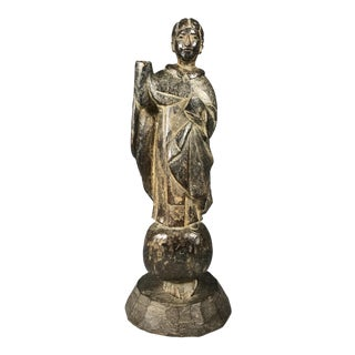 19th C. Carved San Vicente Ferrer Sculpture