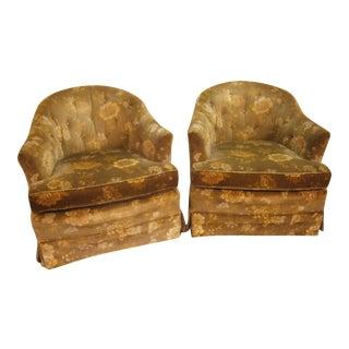 Vintage Henredon Swivel/Rocking Chairs - A Pair