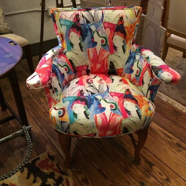 Oly Upholstered Armchairs - Pair - Image 2 of 6