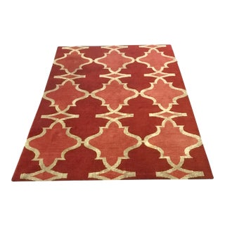 Red Wool & Silk Rug - 6′2″ × 8′8″