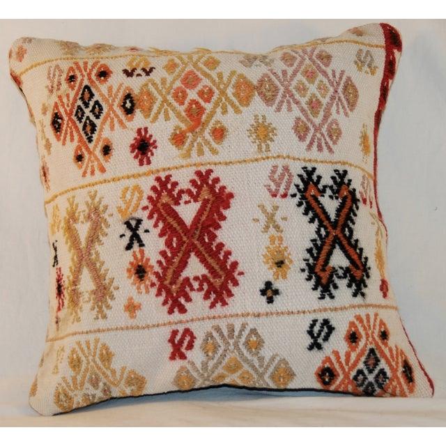 Vintage Square Handmade Bohemian Kilim Pillow - Image 4 of 5