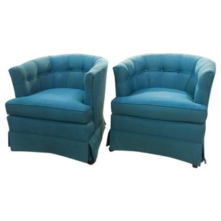 Mid-Century Hollywood Regency Drexel Heritage Chairs - Pair