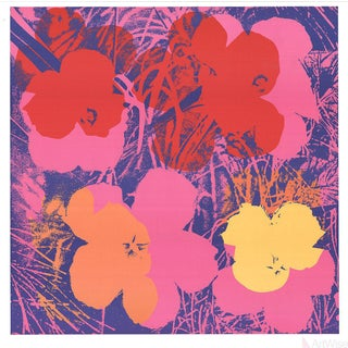 Andy Warhol Flowers Lithograph Poster