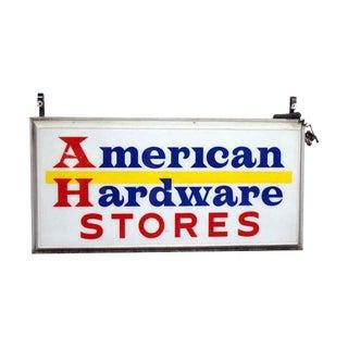 Vintage American Hardware Hanging Store Sign