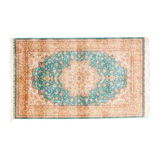 Leon Banilivi Aqua Silk rug , 3' x 5'