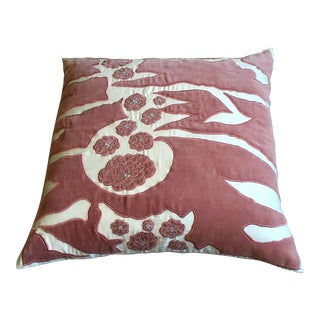 Pink & White Pillow Cover