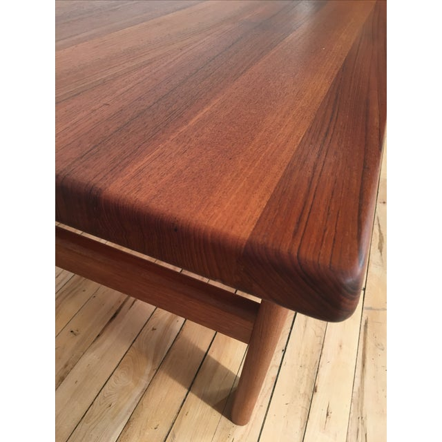 Solid Teak Danish Modern Coffee Table - Image 5 of 6