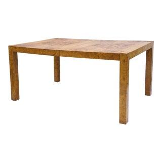 Milo Baughman Burl Parsons Extension Dining Table