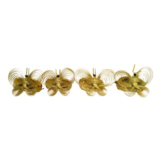 Vintage Wicker Butterfly Napkin Rings - Set of 4