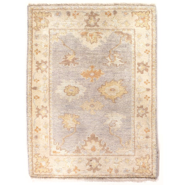 "Hand Knotted Oushak Rug - 2'2"" X 3' - Image 1 of 2"