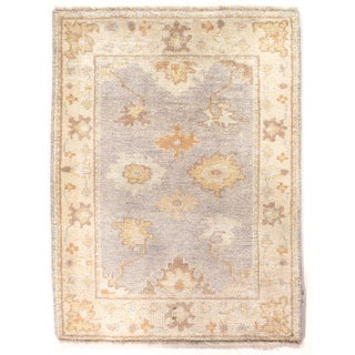 """Hand Knotted Oushak Rug - 2'2"""" X 3'"""