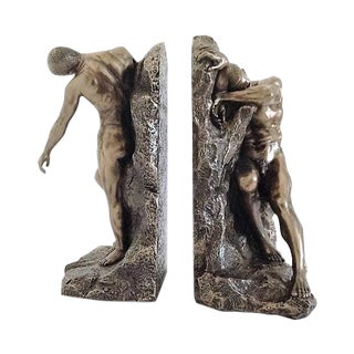 Cold Cast Bronze Bookends - Pair