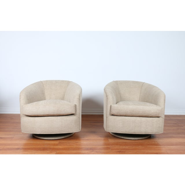 Swivel Hollywood Regency Style Chairs - Pair - Image 8 of 8