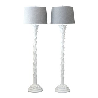 Chapman After Serge Roche Palm Tree Floor Lamps - a Pair