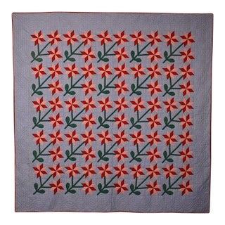 Starflowers Quilt: Circa 1880; Pennsylvania