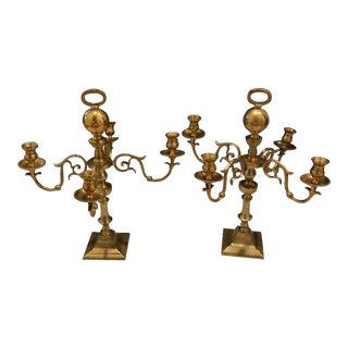 Vintage Brass Candlestick Candleabra - a Pair