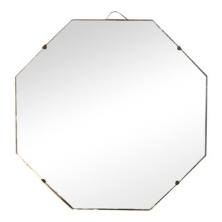 Art Deco Octagonal Etched Mirror