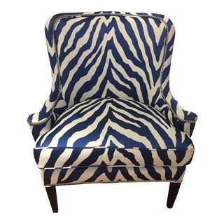 Upholstered Zebra Print Montclaire Chair