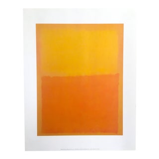 "Vintage Rothko Abstract Lithograph Print Poster ""Orange & Yellow"" 1956"