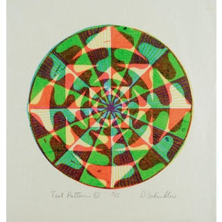 Op Art Test Pattern Serigraph